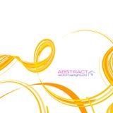 Gele abstracte linten vectorachtergrond Stock Fotografie