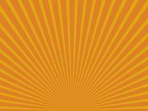 Gele abstracte zonstralen Eps 10 stock illustratie