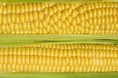 Gele achtergrond De Achtergrond van vruchten en van Groenten Stock Afbeelding