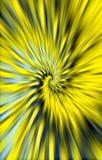 Gele achtergrond De vlekken divergeren in een spiraal van het midden aan de randen vector illustratie