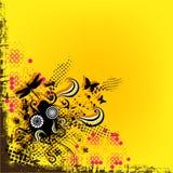 Gele achtergrond en grens Stock Afbeelding