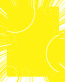 Gele achtergrond met cirkels stock illustratie