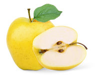 Gele appel Stock Afbeelding