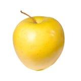 Gele appel op een witte achtergrond Stock Afbeeldingen