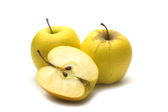Gele appelen Stock Afbeelding