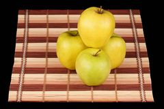 Gele appelen Stock Foto's