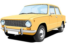 Gele auto stock illustratie