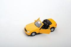 Gele auto Royalty-vrije Stock Afbeelding