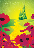 Gele baksteenweg 1 royalty-vrije illustratie