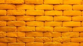 Gele bakstenen muur royalty-vrije stock foto