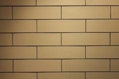 Gele bakstenen muur Stock Foto's