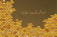 Gele bakstenen muur vector illustratie