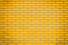 Gele bakstenen muur Royalty-vrije Stock Afbeeldingen