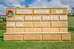Gele bakstenen muur van de Vriendschapskracht van de clubplaten i van Perth Royalty-vrije Stock Foto