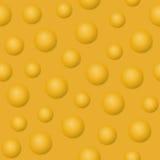 Gele ballen en bellen vectorillustratie abstracte achtergrond Royalty-vrije Stock Foto