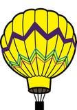 Gele ballon royalty-vrije illustratie