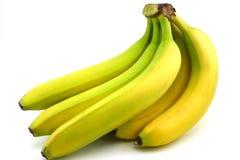 Gele banaanbos, die op wit wordt geïsoleerdv Stock Afbeeldingen