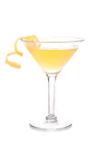 Gele banaancocktail in martini Royalty-vrije Stock Afbeelding