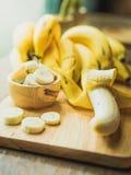 Gele bananen Royalty-vrije Stock Afbeeldingen
