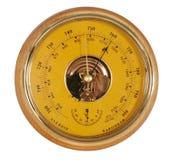 Gele barometer Royalty-vrije Stock Afbeelding