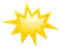Gele barstende ster Stock Afbeelding