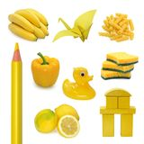 Gele beelden Stock Foto's