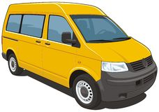 Gele bestelwagen Royalty-vrije Stock Foto