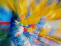 Gele, blauwe abstractie Royalty-vrije Stock Foto's