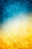 Gele Blauwe Grunge Royalty-vrije Stock Afbeeldingen