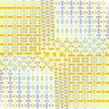 Gele blauwe purpere verplaatst grijs-wit van het rechthoekenpatroon Stock Afbeelding
