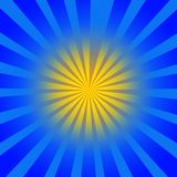 Gele blauwe stralen royalty-vrije illustratie
