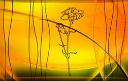 Gele bloemachtergrond Stock Foto
