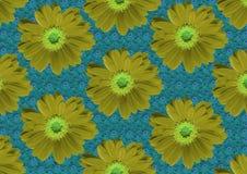 Gele bloementextuur Stock Fotografie
