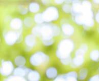 Gele bokeh abstracte lichte achtergrond Stock Afbeelding
