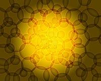 Gele bokehachtergrond stock illustratie