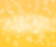 Gele bokehachtergrond in landschap Royalty-vrije Stock Foto
