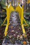 Gele brug Stock Foto's