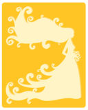 Gele bruid Stock Foto's