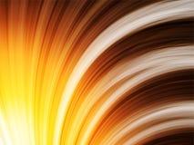 Gele Bruine Oranje Golvenachtergrond op Zwarte Stock Afbeelding