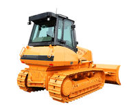 Gele bulldozer Stock Foto