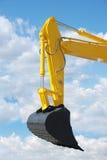 Gele bulldozer royalty-vrije stock fotografie