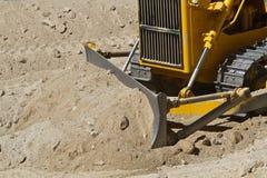Gele bulldozer stock afbeelding