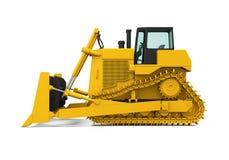 Gele Bulldozer Stock Foto's