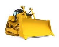 Gele Bulldozer Royalty-vrije Stock Foto's