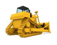 Gele Bulldozer Royalty-vrije Stock Afbeeldingen