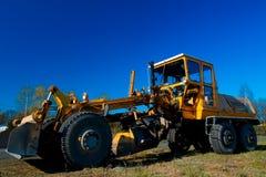 Gele bulldozer Stock Fotografie