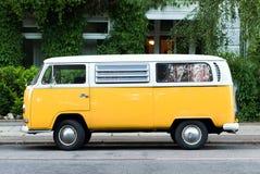 Gele bus Royalty-vrije Stock Afbeelding