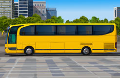 Gele bus royalty-vrije illustratie