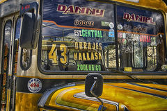 Gele bus Stock Afbeelding