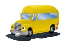 Gele bus Stock Afbeeldingen